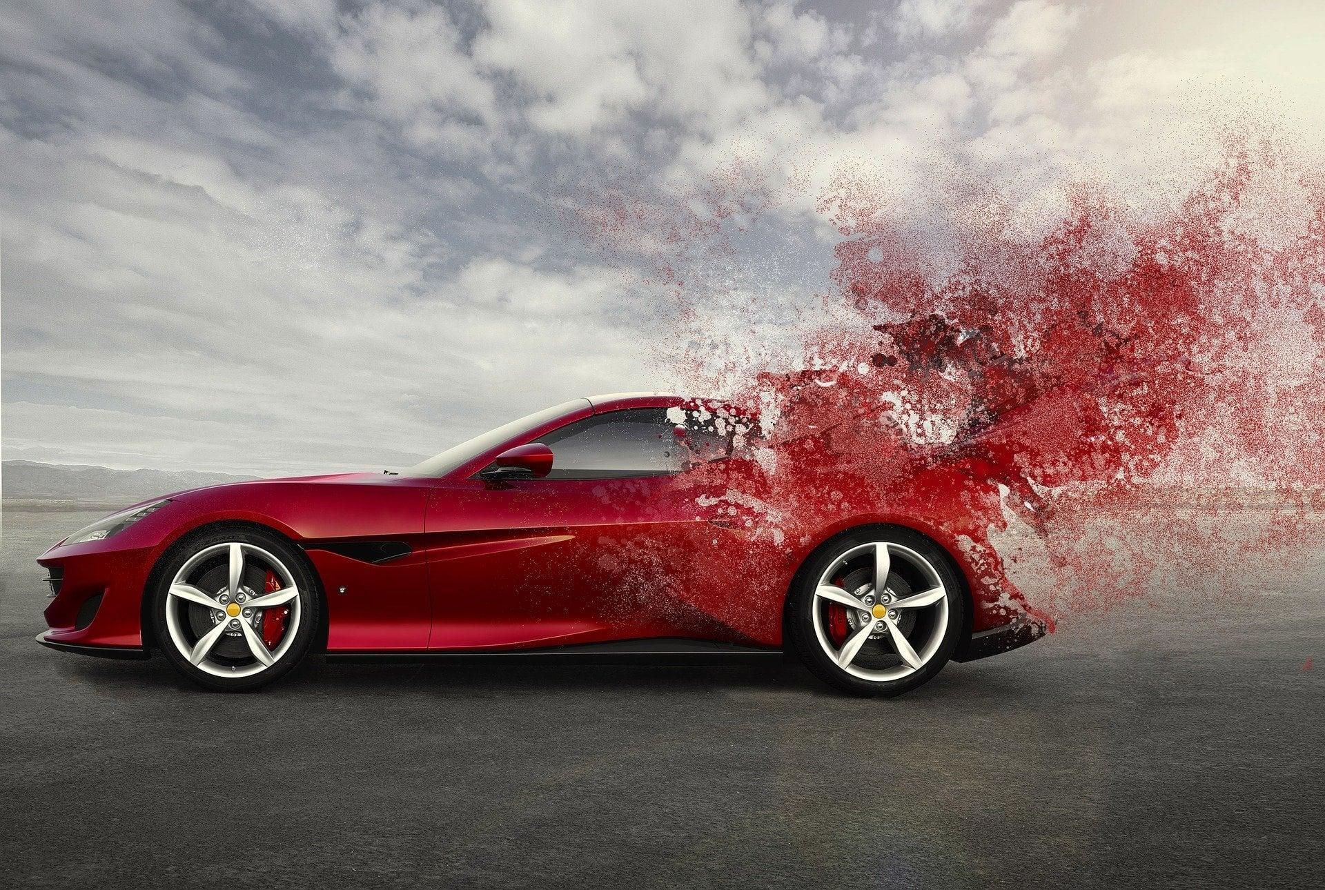 Cochazo fórmula 1 Ferrari rojo